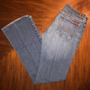7 For All Mankind Coastal Blue Bootcut Jeans 28